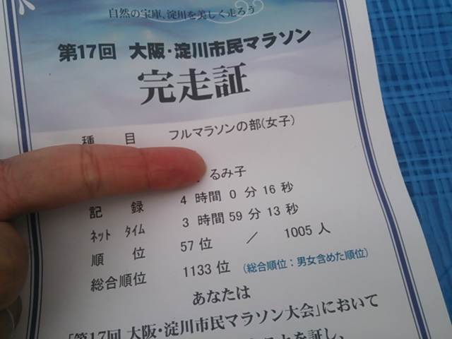 【速報】淀川市民マラソン終わったよー