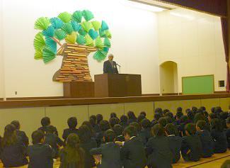 歴史を大切に新しい歴史を皆でと濱田学校長