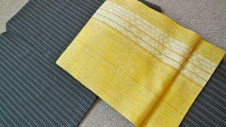 黄色帯、お太鼓