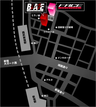 新宿FACEのアクセス