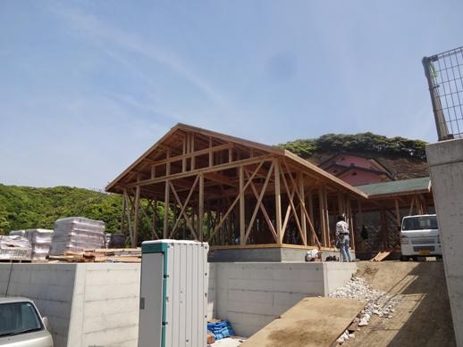 K邸新築工事~屋根下地完了