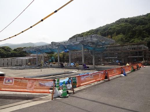 マツハヤ石油新築工事~外構CB積み
