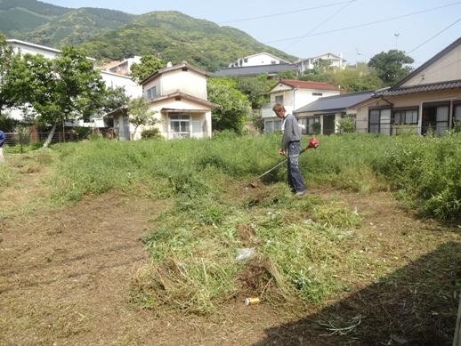 某公舎跡敷地除草~2箇所