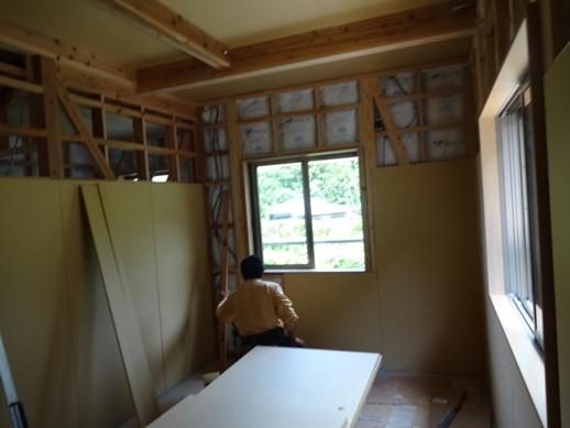 K邸新築工事~内装ドア取付・石膏ボード張り