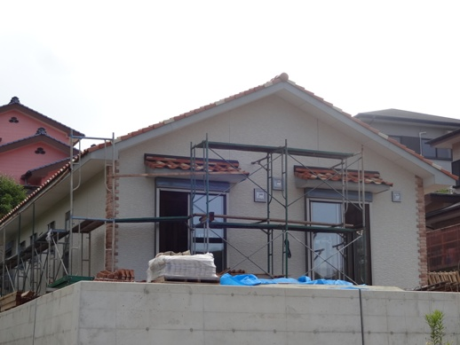 K邸新築工事~外装コーナー