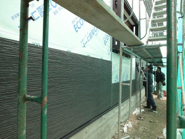 S邸新築工事~外装板張り中