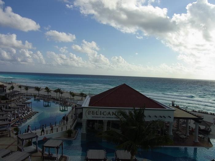朝のカリブ海